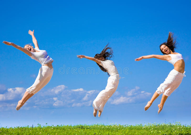 Active girls royalty free stock image