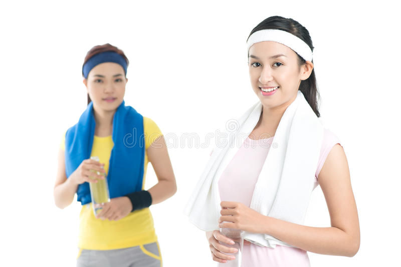 Active girls stock image