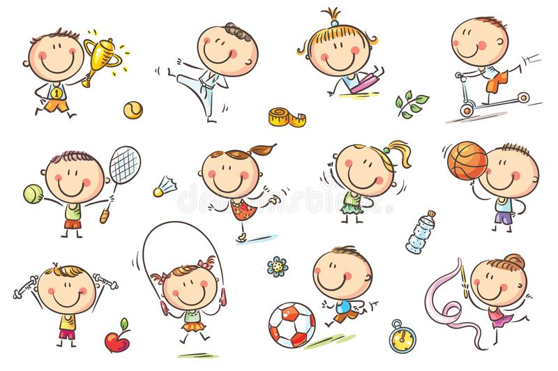 Kids and Sport vector illustration