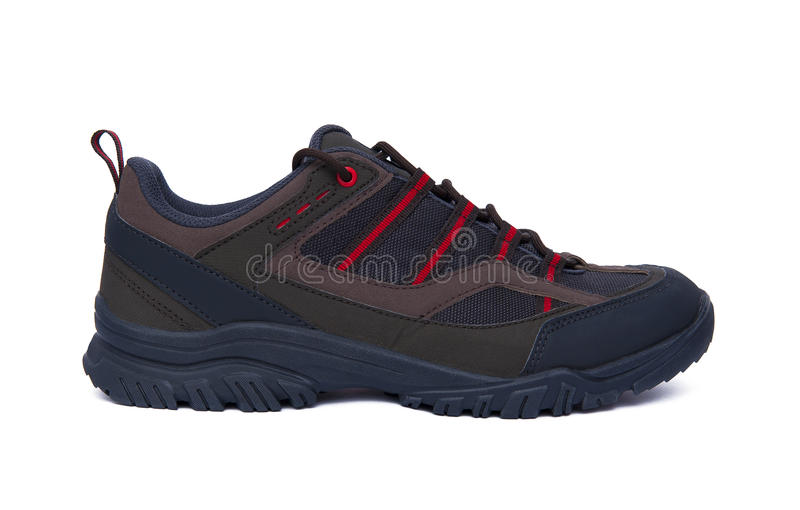 Active lifestyle. Sports shoe isolated on the white background royalty free stock photos