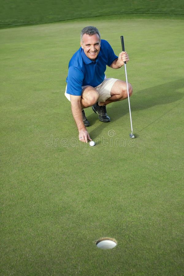 Download Active Male Golfer Putting stock photo. Image of golfer - 13617206