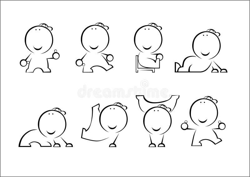 Active man stock illustration