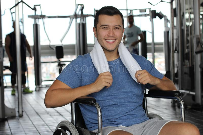 Active man with a disability.  stock image