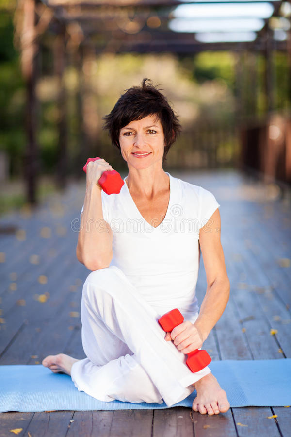 Active Middle Aged Woman Stock Photo