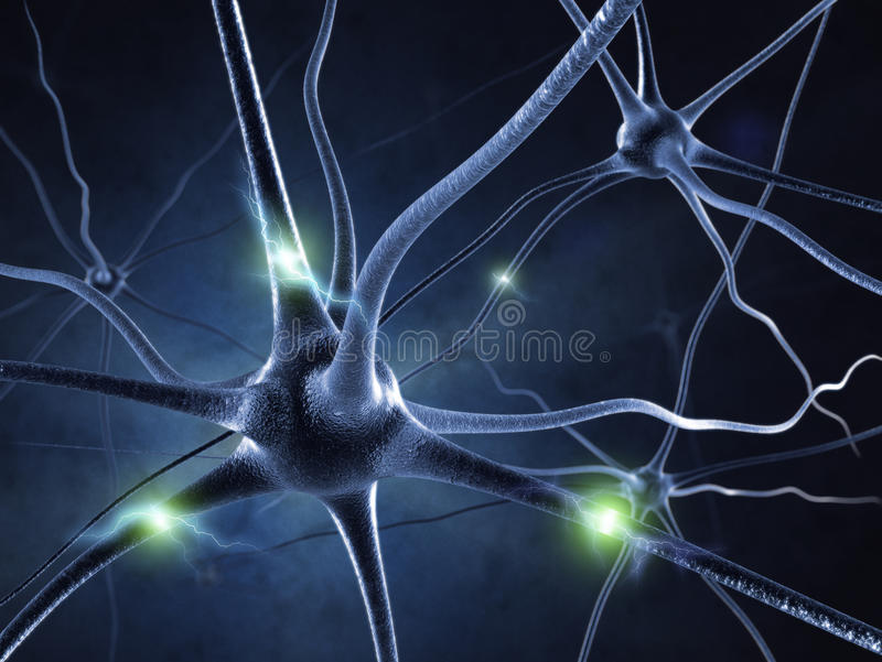 Active nerve cell royalty free illustration