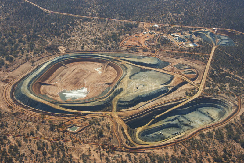 Active Open Pit. In Australia stock photos