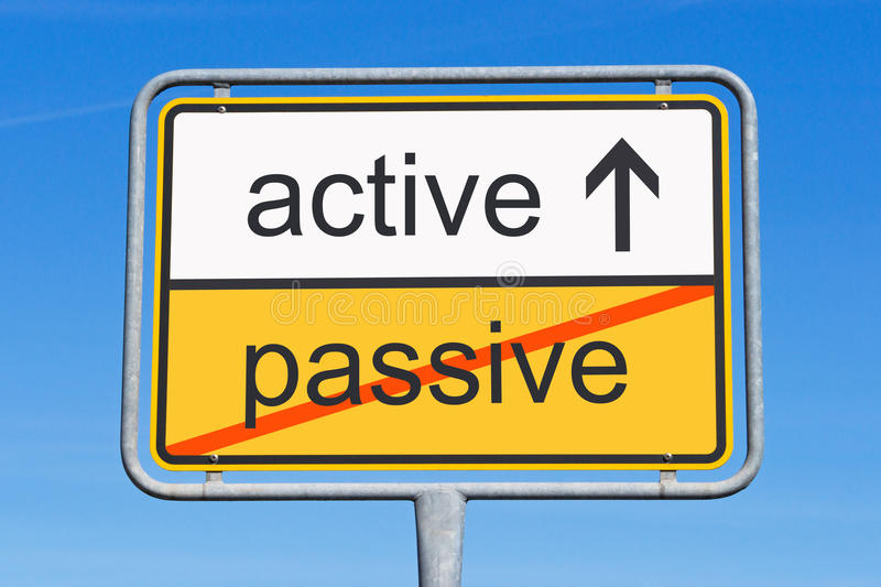 Download Active Instead Of Passive Sign Stock Image - Image of inspiration, illustrated: 39502135