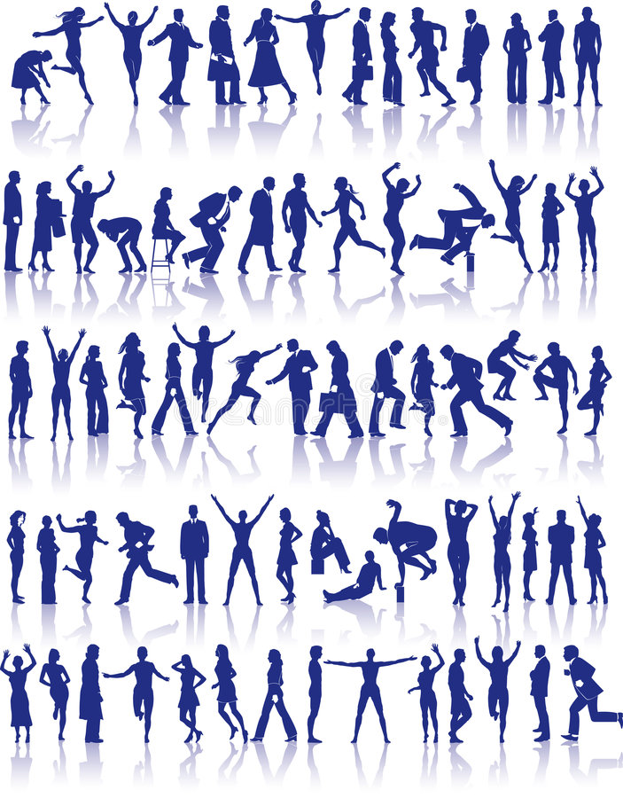 Free Active People Icon Set Stock Photography - 5602742
