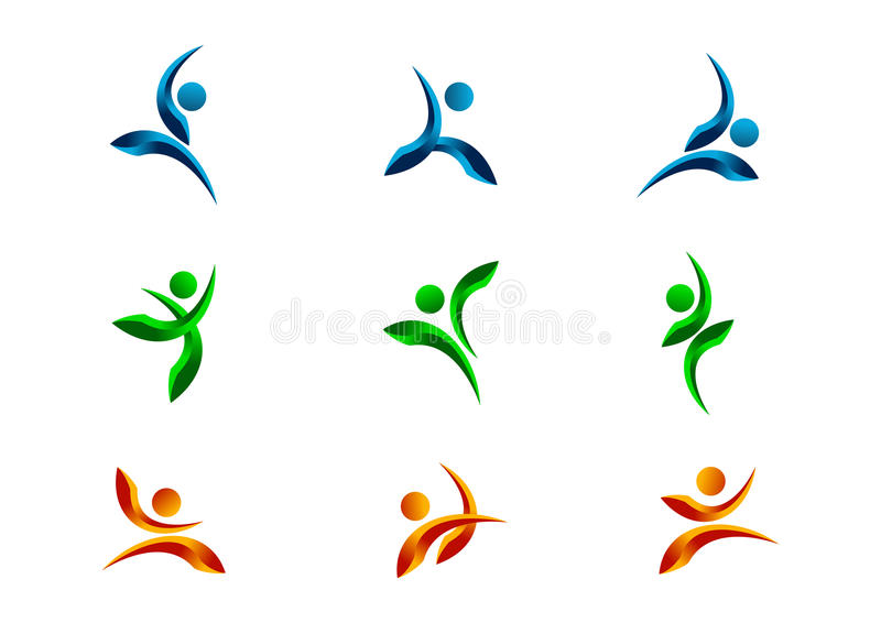 Active,people,logo,character,fitness,symbol,healthy,athlete,body,vector,icon and design set vector illustration