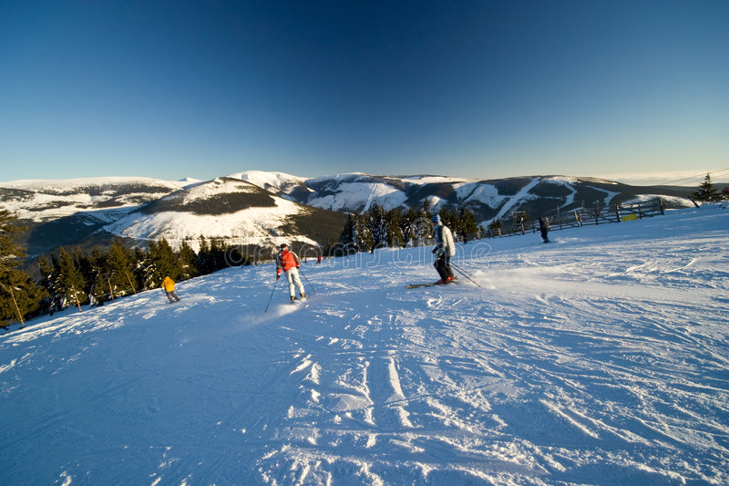 Active People Skiing royalty free stock photography