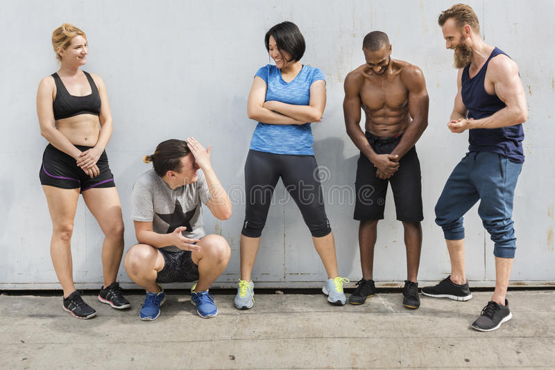 Active People Sport Workout Concept. Active People Sport Workout Fitness stock photo