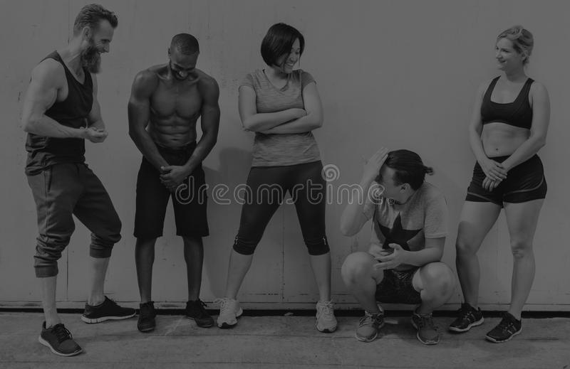 Active People Sport Workout Concept. Active People Sport Workout Fitness stock photography