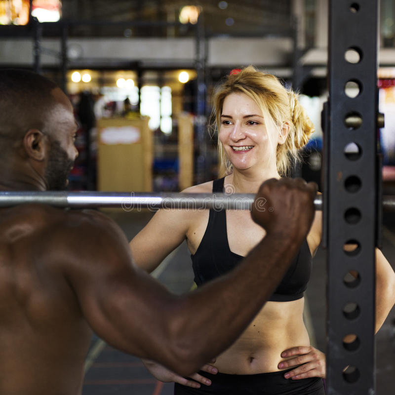 Active People Sport Workout Concept. Active People Sport Workout gym royalty free stock image