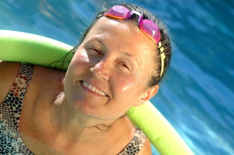 active pool senior στοκ εικόνα