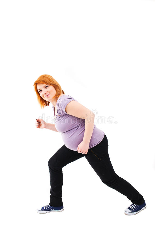 Download Active Pregnant Woman Stock Image - Image: 33023711