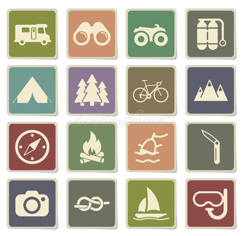 Active recreation icon set vector illustration