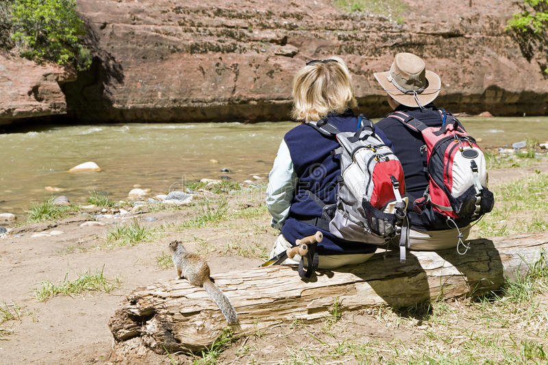 Download Active retired couple stock image. Image of hiking, water - 19024701