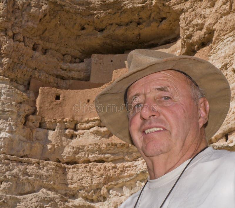 Active Retired Senior Traveler royalty free stock photos