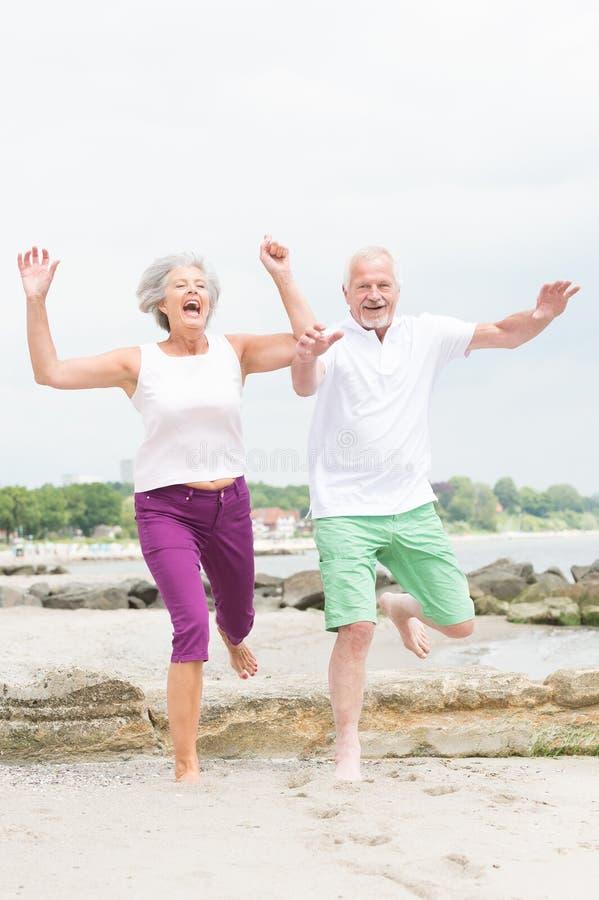 Active Senior Couple Royalty Free Stock Photography