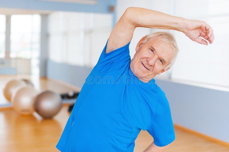 Active senior man. stock image