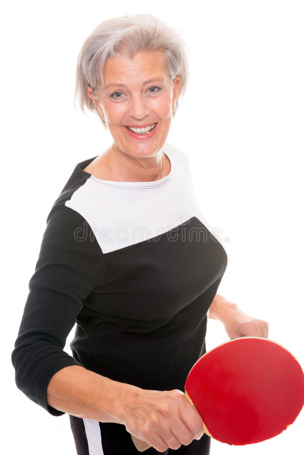 Active senior woman royalty free stock photography