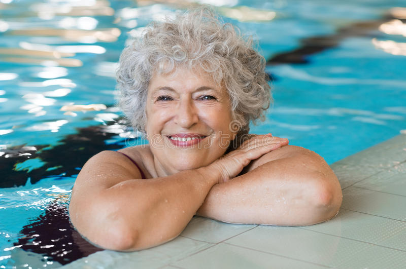Active senior woman stock images