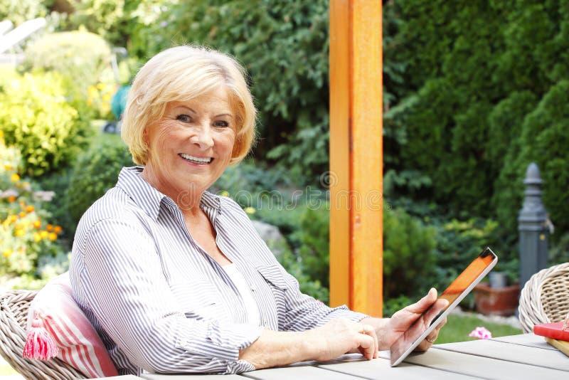 Active senior woman royalty free stock photos