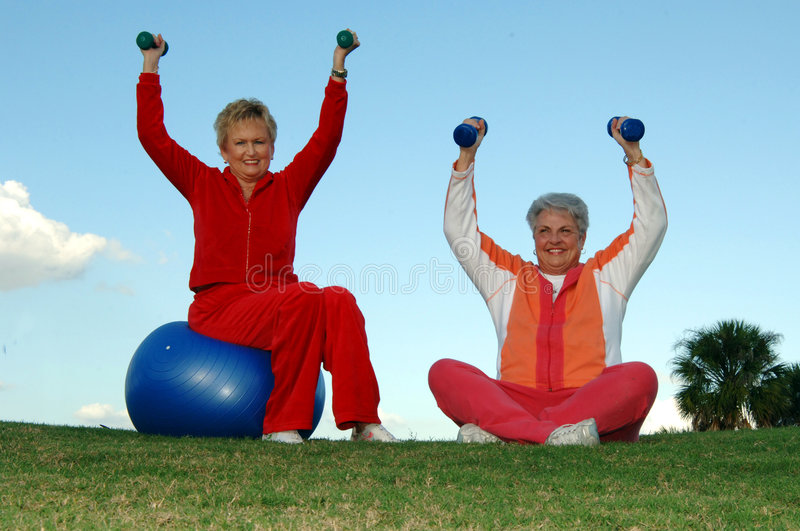 Active senior women royalty free stock photography