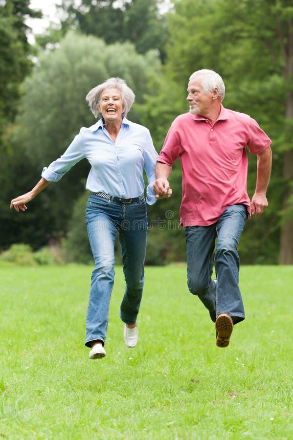 Active seniors. Active senior couple in the park
