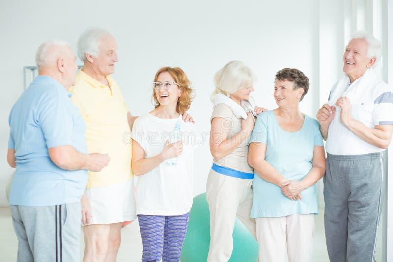 Active seniors concept stock image