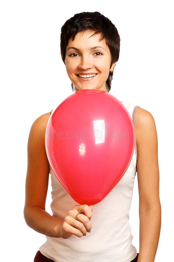 Active smiling woman royalty free stock photo
