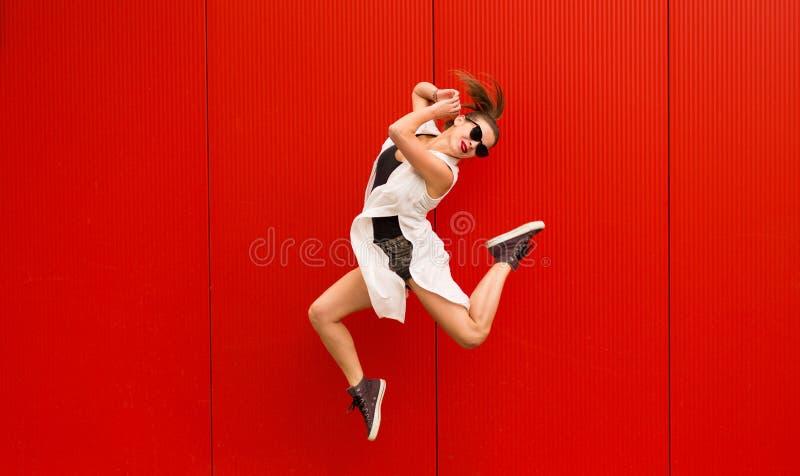 Active stylish woman stock photo