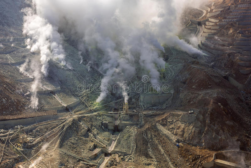Active sulphur vents of Owakudani, Japan stock image