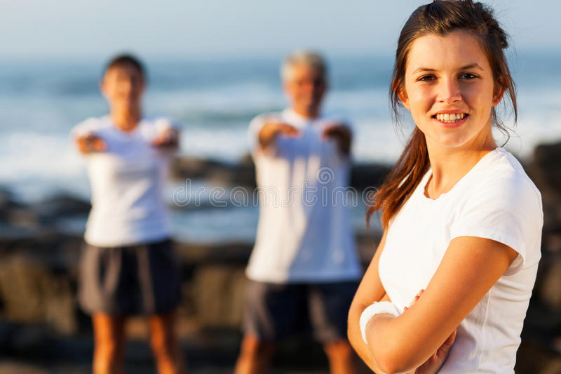 Active teenage girl royalty free stock images