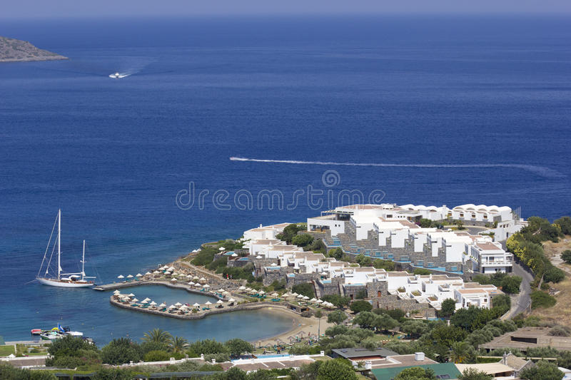 Active vacation at hotel resort. (Crete, Greece royalty free stock photography