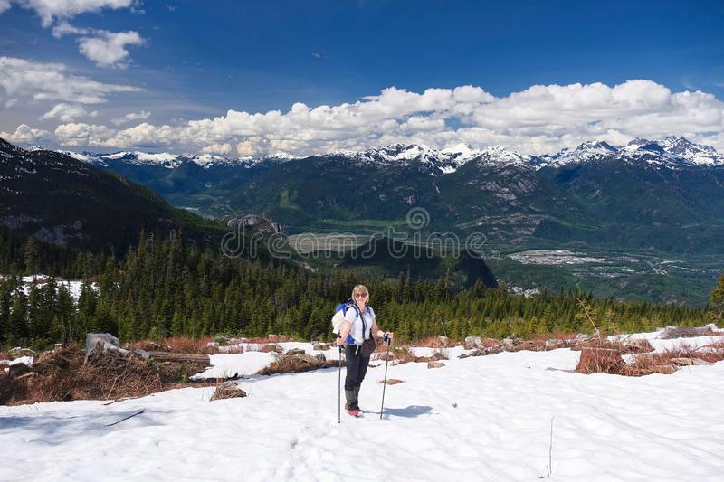 Active vacation near Whistler, British Columbia. stock images