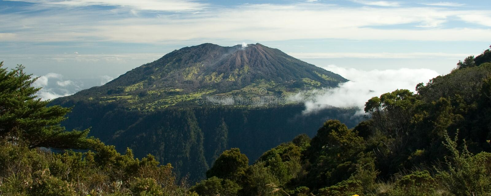 Turrialba Volcano stock photo