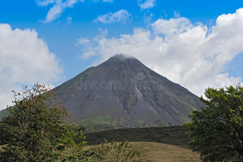 Active volcano Arenal in Costa Rica. The active volcano Arenal in Costa Rica royalty free stock photography