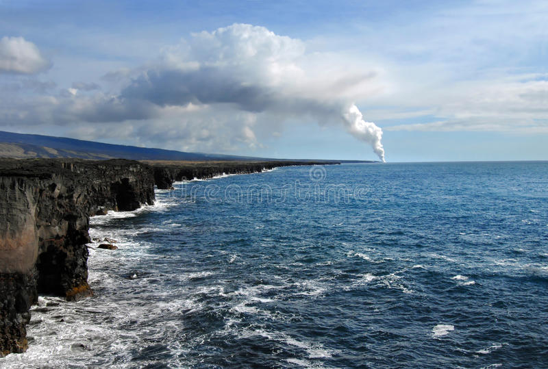 Active Volcano on Big Island royalty free stock photos