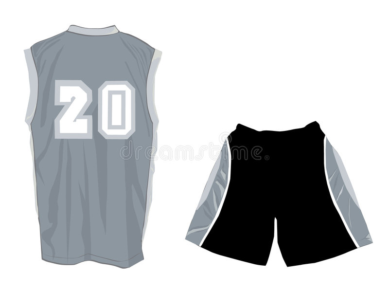 Download Active Wear With Tank Top And Sports Shorts Stock Vector - Illustration of sleeve, back: 8800316