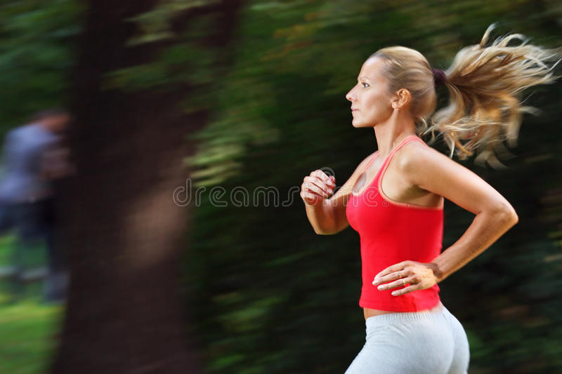 Active woman royalty free stock photography