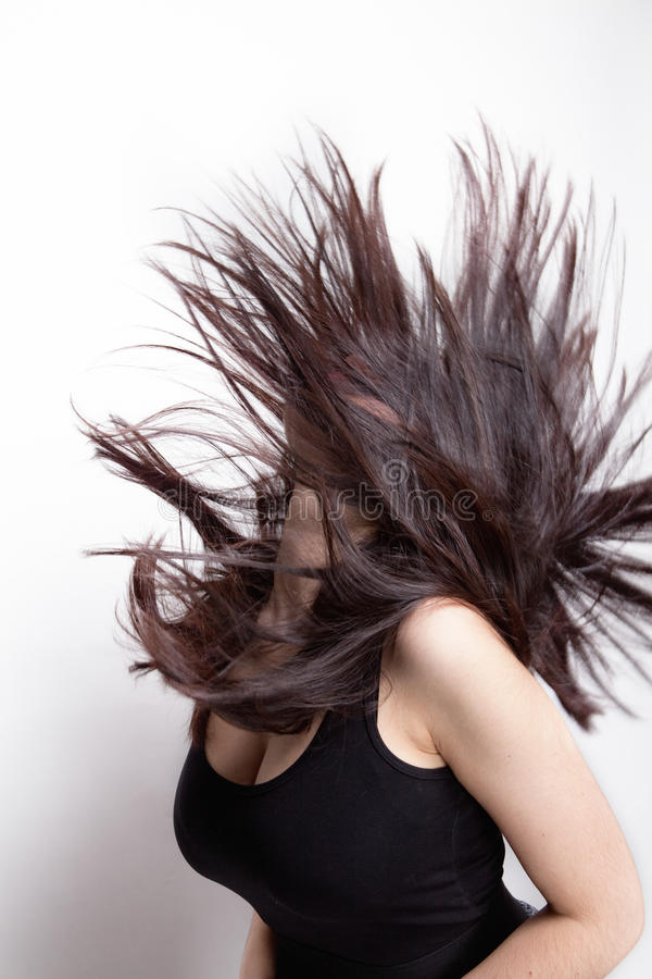 Active Woman With Hair In Motion Stock Photography