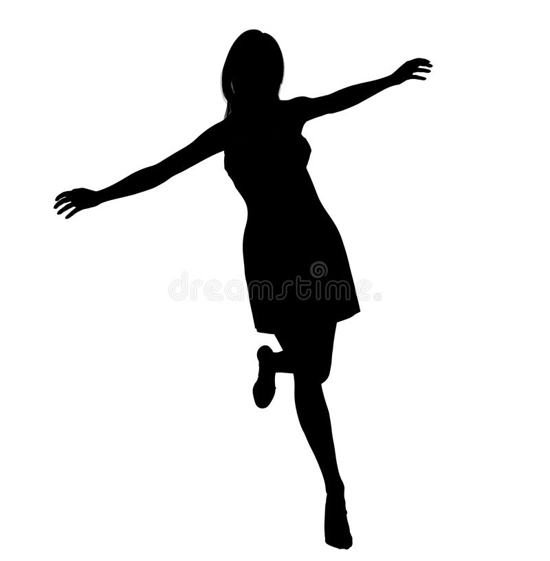 Active woman illustration. Active woman on the move silhouette illustration vector illustration