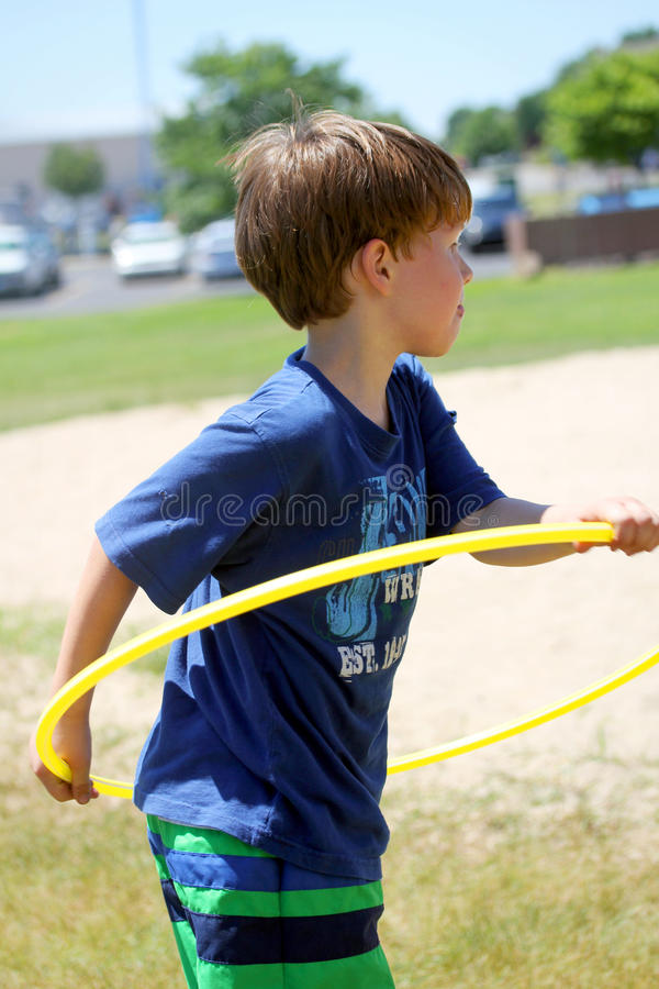 Active Young Boy stock photo