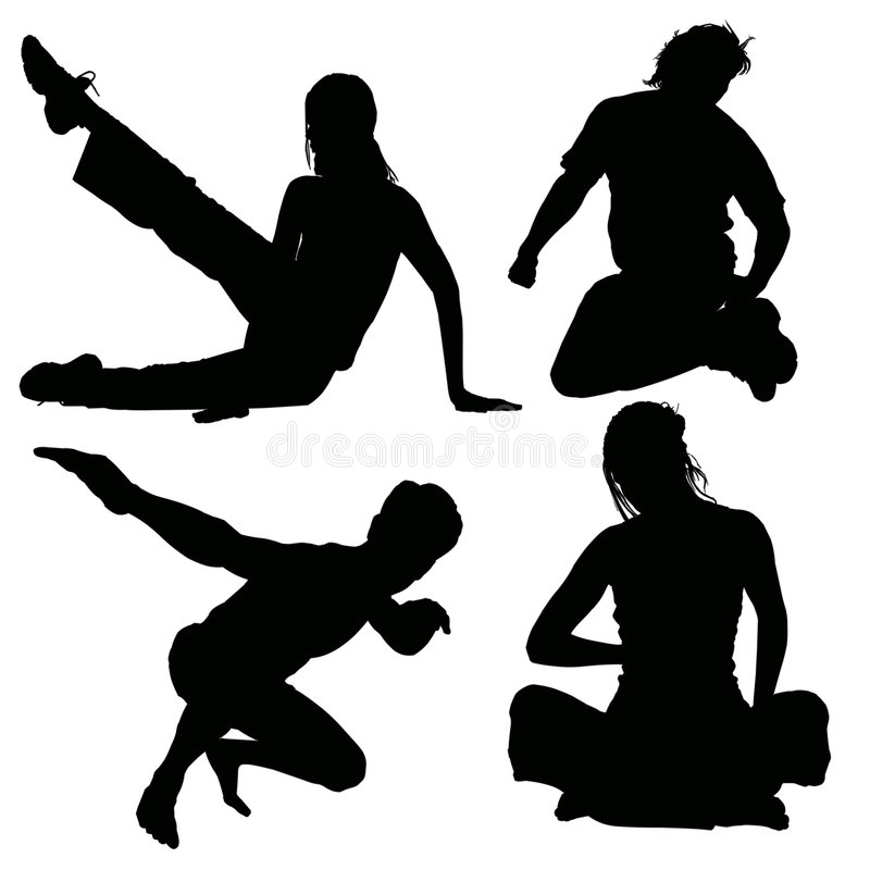 Download Active young silhouette stock illustration. Image of runner - 7085952