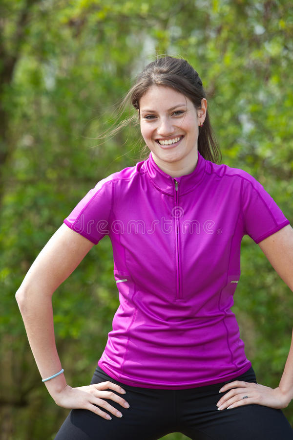 Active young woman royalty free stock photography