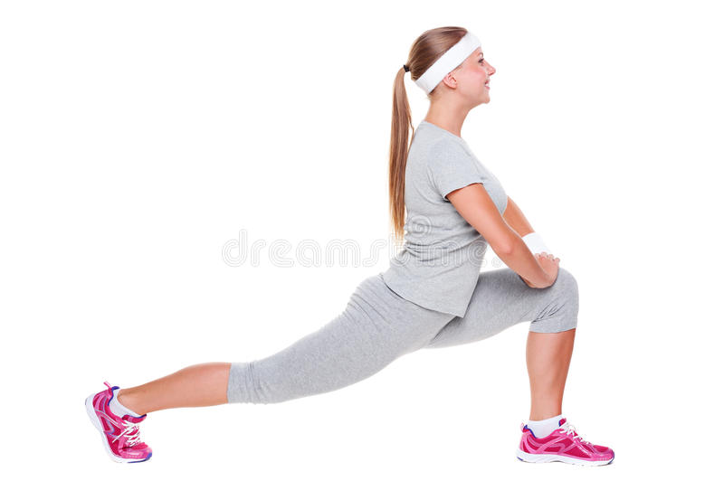 Download Active Young Woman Doing Stretching Stock Image - Image: 25868847