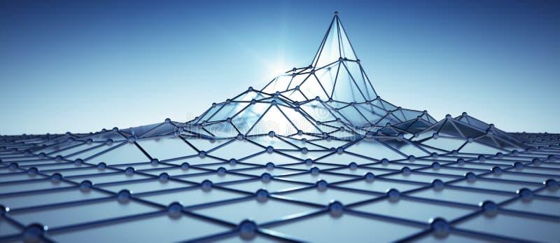 Actividad azul de la red con un pico libre illustration