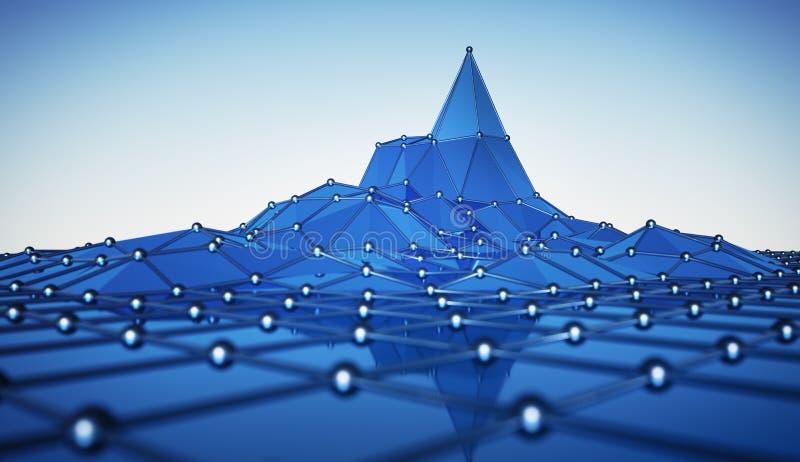 Actividad azul de la red con un pico ilustración del vector