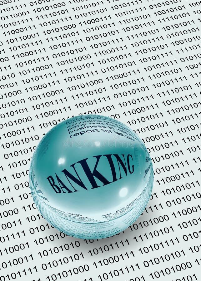 Actividad bancaria en datos foto de archivo libre de regalías